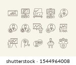 collection of business training ... | Shutterstock .eps vector #1544964008