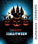 spooky halloween background | Shutterstock .eps vector #154496492