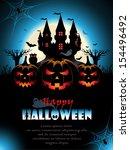 spooky halloween background | Shutterstock .eps vector #154496492