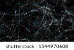 digital plexus of glowing lines ... | Shutterstock . vector #1544970608