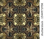 Gold Floral Paisley Vector...