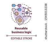 reusable business logic concept ... | Shutterstock .eps vector #1545013238