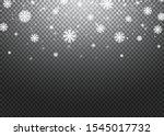falling snow overlay background.... | Shutterstock .eps vector #1545017732