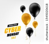 cyber monday sale abstract... | Shutterstock .eps vector #1545020618