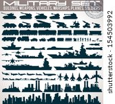 military icons set. collection... | Shutterstock .eps vector #154503992