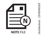 file document office icon note