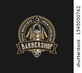 barbershop logo vintage classic ...   Shutterstock .eps vector #1545050762