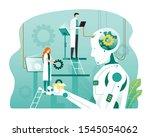 artificial intelligence... | Shutterstock .eps vector #1545054062
