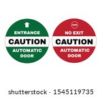 accident prevention signs ... | Shutterstock .eps vector #1545119735