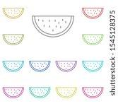 watermelon multi color icon....