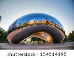 chicago   may 18  cloud gate... | Shutterstock . vector #154514195