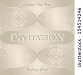 vintage invitation in pastel... | Shutterstock .eps vector #154514246
