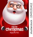 santa claus christmas character ... | Shutterstock .eps vector #1545151412