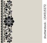vector vintage floral ...   Shutterstock .eps vector #154515272