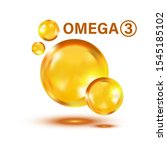 omega 3 icon in flat style.... | Shutterstock .eps vector #1545185102