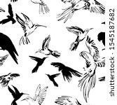 Flying Exotic Birds Seamless...