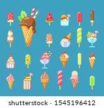 ice cream  summer dessert... | Shutterstock .eps vector #1545196412
