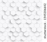 hexagon geometric white texture ...   Shutterstock . vector #1545206642