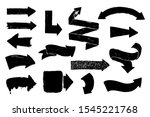 set of hand drawn arrows with... | Shutterstock .eps vector #1545221768