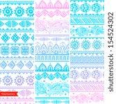 tribal vintage ethnic banners | Shutterstock .eps vector #154524302
