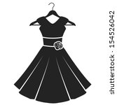 woman dress icon. vector... | Shutterstock .eps vector #154526042
