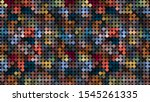 colorful dark geometric mosaic...   Shutterstock . vector #1545261335