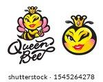 queen bee mascot logo for...   Shutterstock .eps vector #1545264278