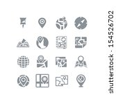 map   navigation icon set | Shutterstock .eps vector #154526702