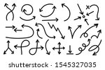 hand drawn arrow vector icons...   Shutterstock .eps vector #1545327035