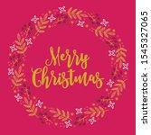 christmas wreath with berries ... | Shutterstock .eps vector #1545327065
