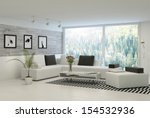 modern living room with huge... | Shutterstock . vector #154532936