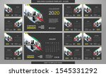 desk calendar 2020 template  ... | Shutterstock .eps vector #1545331292