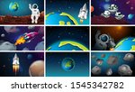 astronauts  space  planets and...   Shutterstock .eps vector #1545342782