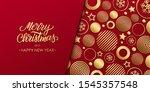 christmas luxury holiday banner ... | Shutterstock .eps vector #1545357548