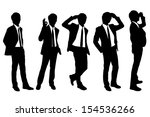 silhouettes of successful...