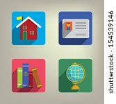 education colorful style icons...   Shutterstock .eps vector #154539146