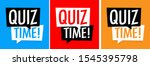 quiz time on various background | Shutterstock .eps vector #1545395798