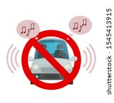 prohibition sign   no loud... | Shutterstock .eps vector #1545413915
