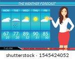 a vector illustration of tv... | Shutterstock .eps vector #1545424052
