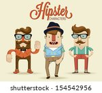Hipster characters. Vector illustration.