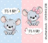 baby shower greeting card with... | Shutterstock .eps vector #1545441158