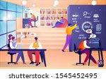 creative team characters make... | Shutterstock . vector #1545452495