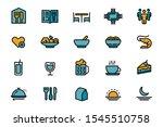basic set of restaurant... | Shutterstock .eps vector #1545510758