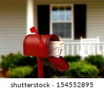 Mail Box In Front Of A House