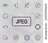 jpeg format icon. simple set of ...