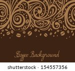 coffee background  vector... | Shutterstock .eps vector #154557356