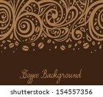 coffee background  vector... | Shutterstock .eps vector #154557356