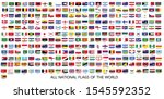 all official national flags of... | Shutterstock .eps vector #1545592352