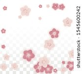 vector realistic pink flowers...   Shutterstock .eps vector #1545600242