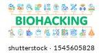 biohacking minimal infographic... | Shutterstock .eps vector #1545605828